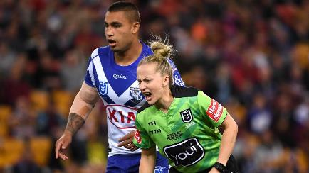 Referee Belinda Sharpe makes her NRL debut